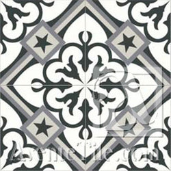 Mission Champagne - A Encaustic Cement Tile