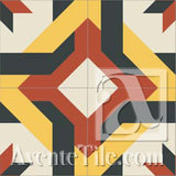 Mission Aranzazu - B Encaustic Cement Tile
