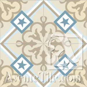 Mission Champagne - B Encaustic Cement Tile