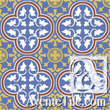 Mission Roseton - B Encaustic Cement Tile rug