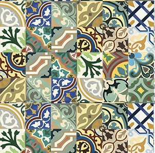 Mission Colorful Patchwork Encaustic Cement Tile