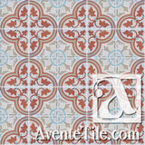 Mission Roseton Relief #1 Encaustic Cement Tile rug