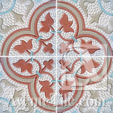 Mission Roseton Relief #1 Encaustic Cement Tile