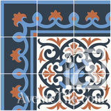 Mission Cox Border Encaustic Cement Tile