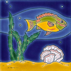 Reef Mural Fish and Coral No. 3