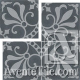 "Cuban Heritage Design 230 3A Cross 8""x8"" Encaustic Cement Tile"