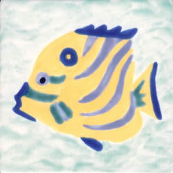 Whimsical Sea Life Fish 2 Tile