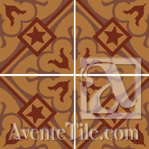"Classic Chantilly A 8"" x 8"" Cement Tile"