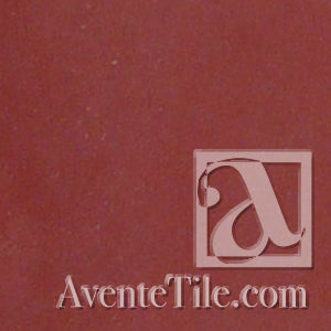 "Classic Solid Color Coral Red 8"" x 8"" Cement Tile"