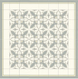 Mission Grand Franjas Border III and Zebra Grand Cement Tile Rug