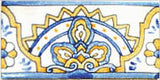 "Spanish Aranjuez 3"" x 6"" Hand Painted Ceramic Tile"