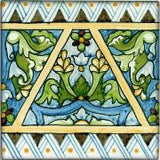 "Spanish Burgos 3"" x 3"" Hand Painted Ceramic Tile"