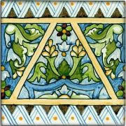 "Spanish Burgos 6"" x 6"" Hand Painted Ceramic Tile"