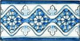 "Spanish Caceres 3"" x 6"" Hand Painted Ceramic Tile"