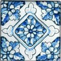 "Spanish Caceres 4"" x 4"" Hand Painted Ceramic Tile"