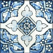 "Spanish Caceres 6"" x 6"" Hand Painted Ceramic Tile"