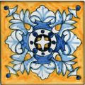 "Spanish Cadiz 4"" x 4"" Hand Painted Ceramic Tile"