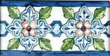 "Spanish Mallorca 3"" x 6"" Hand Painted Ceramic Tile"