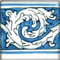 "Spanish Soria 4"" x 4"" Hand Painted Ceramic Tile"