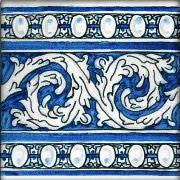 "Spanish Soria 6"" x 6"" Hand Painted Ceramic Tile"