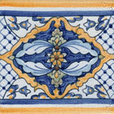 "Spanish Valencia Crackle Finish 6"" x 6"" Hand Painted Ceramic Tile"