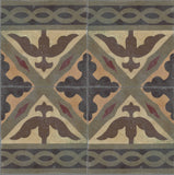 "Klaver Braid Double Border Encaustic Cement Tile 8""x8"""