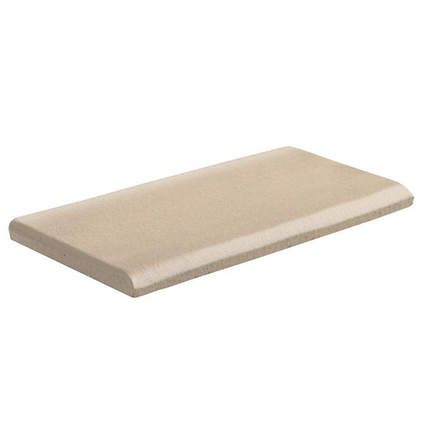 "Malibu Field 3"" x 6"" Surface Bullnose Long Side Almond"