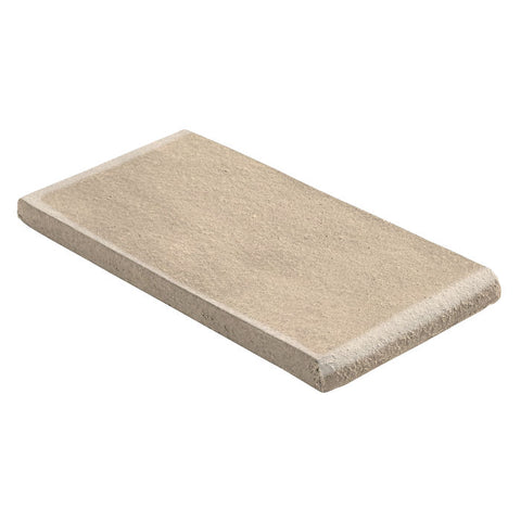 "Malibu Field 3"" x 6"" Surface Bullnose Short Side Almond"