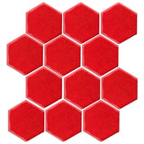 "Malibu Field 4""Hexagon Chile Pepper #7621C Ceramic Tile"