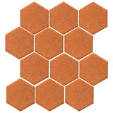 "Malibu Field 4"" Hexagon Fawn Brown Matte #470U Ceramic Tile"