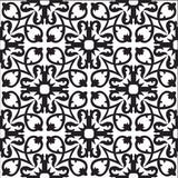 Traditional Manzanillo C (Black and White) Cement Tile Rug