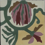 "Marquette Flower Encaustic Cement Tile 8""x8"""