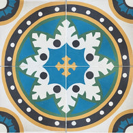 "Apex Medallion Cartagena Cement Tile 8"" x 8"" - Four Tiles"