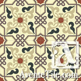Mission Alcala A Encaustic Cement Tile Rug