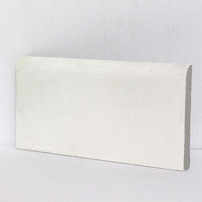 "Mission Cement Tile 4""x8"" Base Trim or Molding - White"