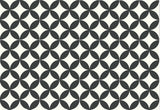 Mission Circles C (black and white) Encaustic Cement Tile - 12 tiles