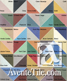 Mission Cement Tile Color Palette with Names
