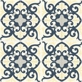 "Mission Espanola Cozy Colorway 8""x8"" Encaustic Cement Tile - 4 tiles x 4 tiles Rug"