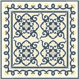 "Mission Cox Border 8""x8"" Encaustic Cement Tile Frames Espanola Tile - Both in the same colrs"