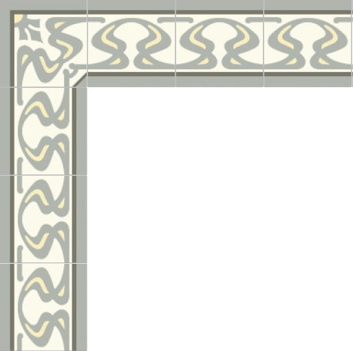Mission Ghent Border Pattern in Soft Sage