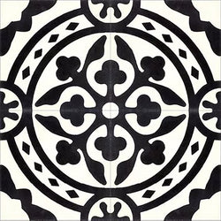 Mission Le Rond C Encaustic Cement Tile Quarter Design