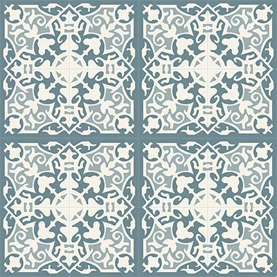 Mission Madrid Azul Encaustic Cement Tile Rug