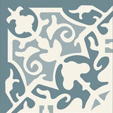 "Mission Madrid Azul Encaustic Cement Tile 8"" x 8"""