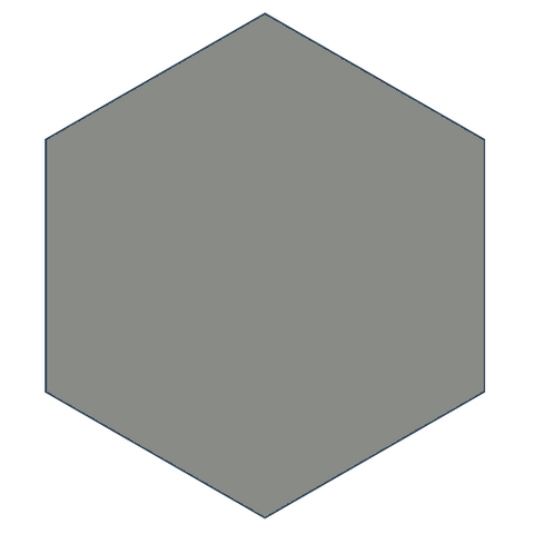 "Mission Oxford Gray 8"" x 9"" Hexagon Encaustic Cement Tile"