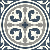 "Mission Palazzo North Coast Colorway Encaustic Cement Tile 8""x8"" - 4 Tiles"