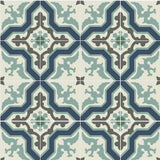Mission Pescadero B Encaustic Cement Tile Rug