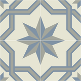 Mission Regent Encaustic Cement Tile Quarter Design - Sky Colorway