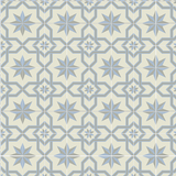 Mission Regent Encaustic Cement Tile Rug Layout - Sky Colorway