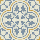 "Mission Roseton Savoy Colorway Encaustic Cement Tile 8""x8"" - Quarter Design"