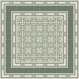 Mission Santiago Border in Verdant Colorway surrounds Roseton Field